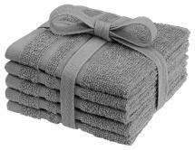Borganäs of Sweden Flannel Basic Terrycloth - Grey 25x25 cm 5-pack