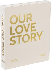 KAILA KAILA OUR LOVE STORY Creme - Coffee Table Photo Album (60 Black Pages)