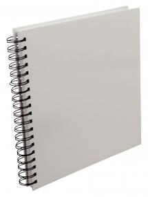 Square Spiral bound photo album White - 25x25 cm (80 White pages / 40 sheets)