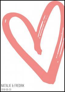 Personlig poster Big Heart