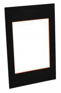 Passepartouter Måttbeställda Mount Black (Orange Core) - Custom Size