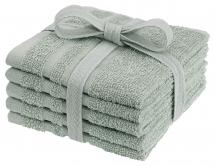 Borganäs of Sweden Flannel Basic Terrycloth - Green 25x25 cm 5-pack