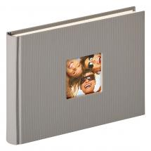 Walther Fun Design Grey - 22x16 cm (40 White pages / 20 sheets)