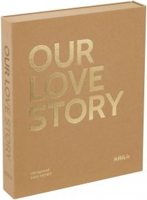 KAILA KAILA OUR LOVE STORY Manilla - Coffee Table Photo Album (60 Black Pages)