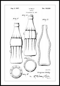 Lagervaror egen produktion Patent drawing - Coca-Cola bottle Poster
