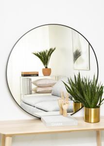 KAILA KAILA Round Mirror - Edge Black 100 cm Ø
