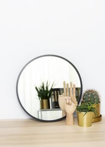 KAILA KAILA Round Mirror - Edge Black 40 cm Ø