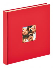 Walther Fun Self-adhesive Red - 33x34 cm (50 White pages / 25 sheets)