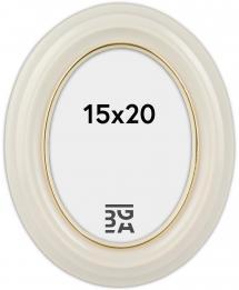 Estancia Eiri Mozart Oval White 15x20 cm