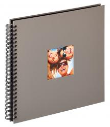 Walther Fun Spiral bound album Grey - 30x30 cm (50 Black pages / 25 sheets)