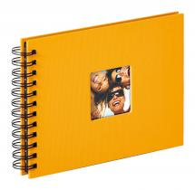 Walther Fun Spiral bound album Yellow - 23x17 cm (40 Black pages / 20 sheets)