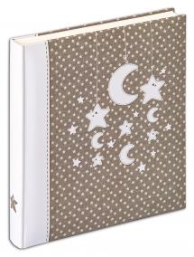 Walther Stars & Moon Photo Album - 28x30.5 cm (50 White pages / 25 sheets)
