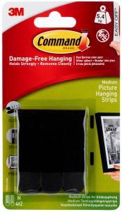 Focus 3M Picture hanging strips Medium - Black with velcro (20 mm)