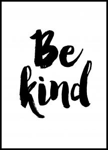 Bildverkstad Be Kind Poster