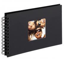 Fun Spiral bound album Black - 23x17 cm (40 Black pages / 20 sheets)