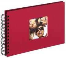 Walther Fun Spiral bound album Red - 23x17 cm (40 Black pages / 20 sheets)