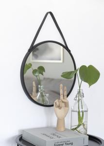 House Nordic Mirror Trapani Black 38 cm Ø