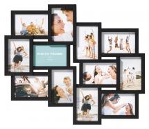 Walther Timeless Collage frame Black - 12 Pictures