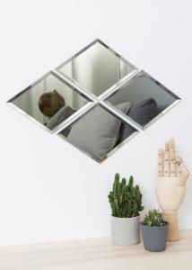 Society of Lifestyle Mirror House Doctor Diamond Grey 16x22 cm
