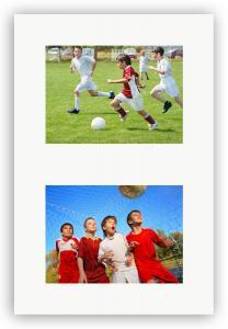 Passepartouter Måttbeställda Collage mount White 2 Pictures - Custom Size (White Core)