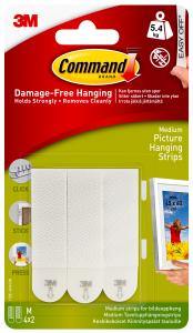 Focus 3M Picture hanging strips white with velcro (20 mm) - 4 pairs