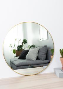 House Nordic Mirror Jersey Brass 60 cm Ø