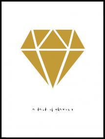 Bildverkstad Diamond - Gold Poster