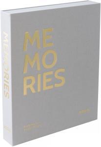 KAILA KAILA MEMORIES Grey - Coffee Table Photo Album (60 Black Pages)
