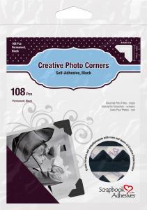 Focus 3L Creative Photo Corners Black - 108 pack