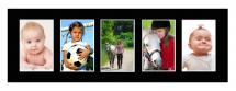 Galleri 1 Mount Black 20x60 cm - Collage 5 Pictures (9x14 cm)