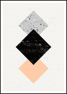 Bildverkstad Abstract Squares II Poster