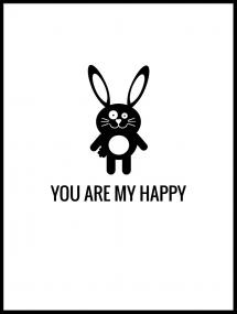Malimi Posters Rabbit Happy Poster
