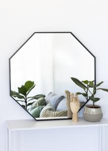 KAILA KAILA Mirror Octagon Black 70 cm Ø