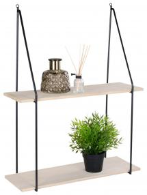 House Nordic Shelf Haag 21x72 cm - Black/Wood