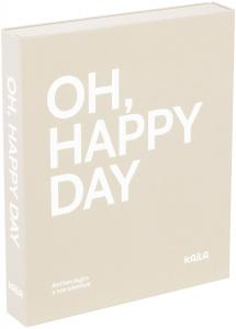 KAILA KAILA OH HAPPY DAY Grey - Coffee Table Photo Album (60 Black Pages)