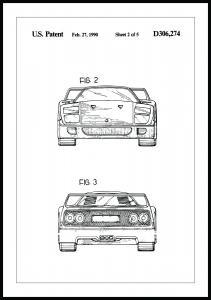 Bildverkstad Patent drawing - Ferrari F40 III Poster