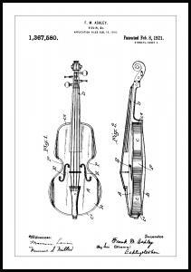Bildverkstad Patent drawing - Violin Poster