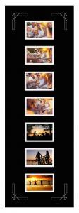 Egen tillverkning - Passepartouter Mount Black 30x90 cm - Collage 7 Pictures (9x14 cm)