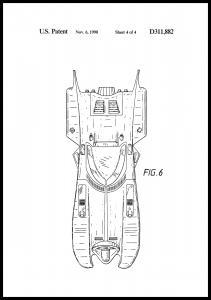 Bildverkstad Patent drawing - Batman - Batmobile 1990 IIII Poster