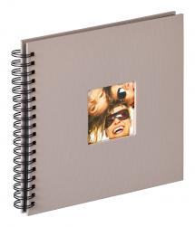 Walther Fun Spiral bound album Grey - 26x25 cm (40 Black pages / 20 sheets)