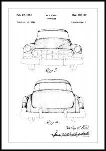 Bildverkstad Patent drawing - Cadillac II Poster