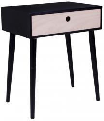 House Nordic Bedside table Parma 32x45 cm - Black/Wood