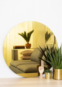 KAILA KAILA Rund Spegel Gold 80 cm Ø