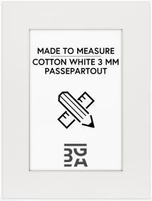 Egen tillverkning - Passepartouter Mount Cotton White - Made to measure