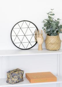 KAILA KAILA Round Mirror Triangles - Black 35 cm Ø
