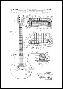 Lagervaror egen produktion Patent drawing - Electric guitar I Poster