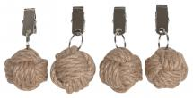 Fondaco Tablecloth Weight Knop - Jute 4-pack