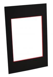 Passepartouter Måttbeställda Mount Black (Red Core) - Custom Size
