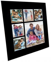 Mount Black Collage (White Core) 6 Pictures 50x50 cm