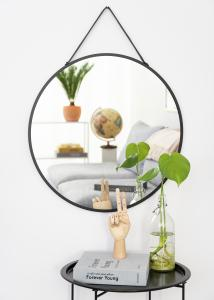 House Nordic Spegel Trapani Svart 60 cm Ø